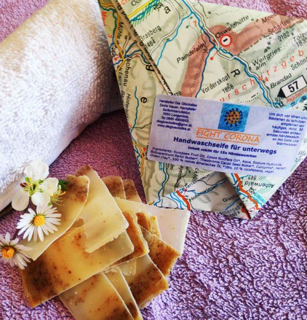 Fight Corona Handwaschseife in Unterwegs-Verpackung